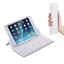 Bluetooth Tastatur -  zeco Tablet Alu Faltbare QWERTY Keyboard  F18 Weiß