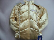 Kansas City Chiefs Gold NFL Youth Girls Down Jacket Large 14 with Hoody