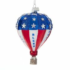 Patriotic Hot Air Balloon God Bless America NEW IN BOX Americana 4th of July