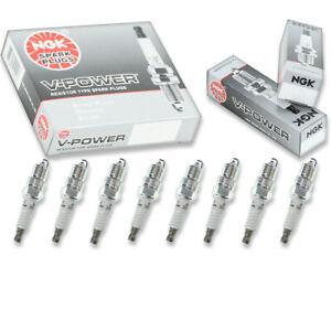 8 pcs NGK V-Power Spark Plugs for 1988-1995 Chevrolet C1500 5.7L 5.0L 7.4L hu