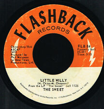 "45T 7"": the Sweet: little willy. flashback. A5"