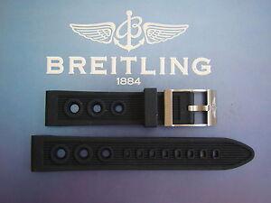 NWOT 22MM BLACK SCUPPER VENT WATCH BAND WATCHBAND BRACELET STRAP FOR BREITLING
