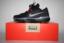 NIKE TW 15 TIGER WOODS GOLF SHOES BLACK RED UK7.5/US8.5/EU42 BNIB 704884-001