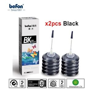 Refill Ink kit 2pcs Black Compatible for HP Canon ink Cartridge