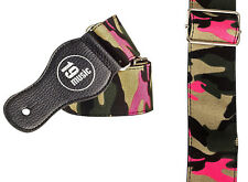 Army Camouflage Guitar Strap adjustable girls girl ladies pink camo acoustic UK