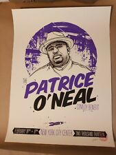 Tyler Stout Patrice O'Neal Comedy Benefit screen print purple signed