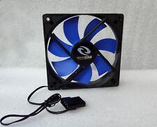 Raidmax 120mm x 25mm Quiet Fan Blue/Black 3 Pin + 4 Pin Molex w/ Speed Control