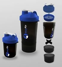 BodyRip 400-500Ml Protein Shaker Blender Cup Nutrition 3 Level Mixer Whey Bottle