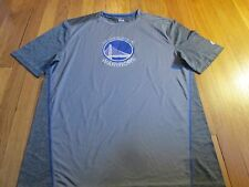 NEW MAJESTIC NBA GOLDEN STATE WARRIORS GRAY PERFORMANCE T-SHIRT SIZE L
