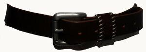 """JAG MEN Australia Dark Brown Genuine Leather Men's Waist Belt Size 30""""/76cm"""