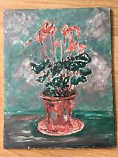 VINTAGE MID CENTURY TEXTURAL FLORAL PAINTING BLOOMSBURY GROUP STYLE