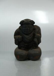 Vintage Japanese Wood-carved Daikokuten Statuette