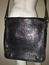 Tuscany Leather Black Messenger Shoulder Bag Work Tote