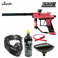 Maddog Azodin Kaos 3 Bronze Paintball Gun Marker Starter Package Pink Black