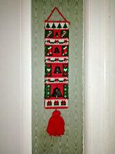Vintage 1970's Door Hanger Acrylic Crochet Christmas Bells Decoration Handcraft