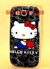 FOR SAMSUNG GALAXY S3 hello kitty PHONE  BLACK WHITE RED HARD CASE cute / S III