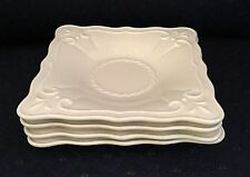 4 Lenox Butler's Pantry Patisserie Square Saucer Butter Bread Snack Fruit Plates