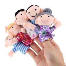 6Pcs Family Finger Puppets Cloth Doll Baby Educational Hand Cartoon Toys |B