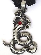 King Cobra Serpiente Peltre Colgante Collar P0416 para Hombre Niños Niñas