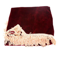 88-key Piano Decor Keyboard Cover Scratch Protector Fringe Decor Gift Maroon
