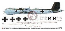 Peddinghaus 1/72 He 177 A-5 Markings 4./KG 40 Bordeaux-Merignac France WWII 2362