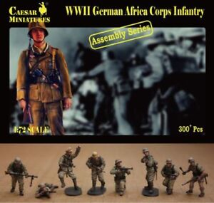 Caesar Miniatures 1/72 WWII German Africa Corps Infantry # 7213
