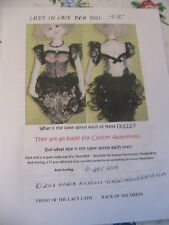 LADY IN LACE~BRA DOLL~DOUG~BARB KEELING~CANCER AWARENESS 2005 cloth doll pattern