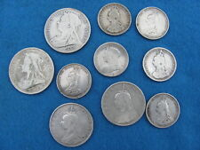 WONDERFUL Lot (10)  Great Britain  silver coins of Queen Victoria