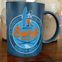 Disney Parks Mickey's Surf Shop Surfer Style Coffee Tea Mug Ceramic New