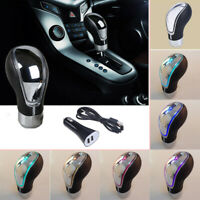 1x Universal Leather Touch Motion Activated LED Light Shift Knob Shifter Gear