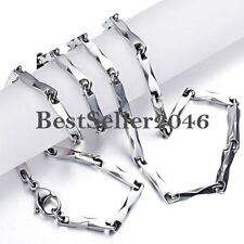 Stainless Steel Men's Women's Link Necklace Chain 22 Inch Silver Color Gifts