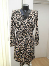 Petite Long Sleeve Knee Length Wrap Dresses for Women