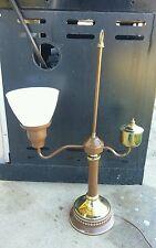Vintage Oil Lamp Brass Student Desk Light Table Lamp Complete
