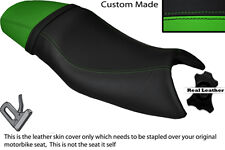 BLACK & GREEN CUSTOM FITS TRIUMPH SPEED FOUR 600 DUAL LEATHER SEAT COVER