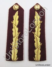 Gorget Collar Patch Maroon Gold Leaf L 4 3/4' ' General Officers R852