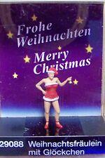 Ho Preiser 29088 Santa 's Helper Figure with Bell * Christmas *