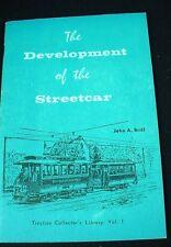 "THE DEVELOPMENT OF THE STREETCAR John Brill ""Cassiers Magazine"" Illustrated 1968"