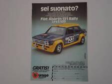 advertising Pubblicità 1977 FIAT 131 ABARTH RAL BBURAGO