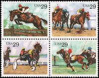 US #2756-2759 MNH 29c horses, block of 4