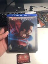 Man of Steel 3D Embossed STEELBOOK Lenticular Magnet Blu-ray Manta Lab