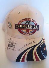 JACKIE STEWART F1 CHAMPIONS AUTOGRAPHED 2004 US GRAND PRIX INDY 500 HAT-CAP