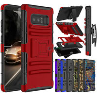 Shockproof Hybrid Stand Clip Rugged Holster Case Cover for Samsung Galaxy Note 8
