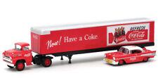 M2 Machines Coca Cola Auto Hauler Holiday 1957 Dodge Coe & 57 CHRYSLER 300c
