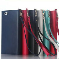 Women's Fashion Deluxe Leather Card Wallet Cover Case For iPhone 8 7 X 6S Plus