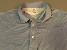 NEW BRUNELLO CUCINELLI Made in Italy SLIM FIT Blue 3-Button Polo XXL (2XL)