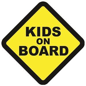 KIDS ON BOARD WARNING SAFETY WARNING BUMPER STICKER Sign Car vehicle windows
