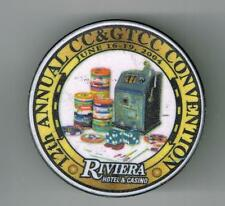 RIVIERA CASINO LAS VEGAS, NEVADA 12TH ANNUAL CC&GTCC CHIP REFRIGERATOR MAGNET #1
