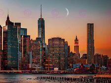 Photographie paysage urbain New York City USA Lune sur Manhattan Art Affiche MP3326A
