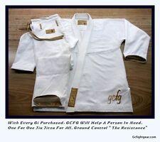 Ground Control BJJ Brazilian Jiu Jitsu Gi Kimono A3 T(Slim)- Atama Koral Style