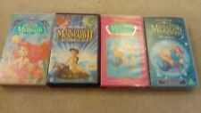 COLLECTION OF 4 DISNEY LITTLE MERMAID VHS VIDEOS FIRST AND SECOND FILMS PLUS TV